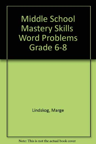9781568223414: Middle School Mastery Skills Word Problems Grade 6-8