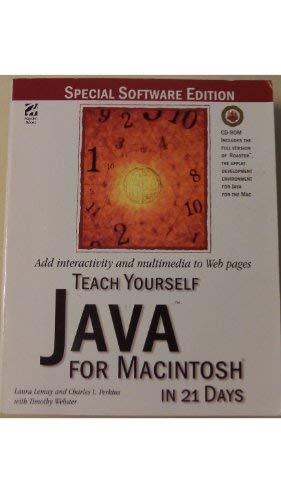 9781568302928: Teach Yourself Java for Macintosh in 21 Days