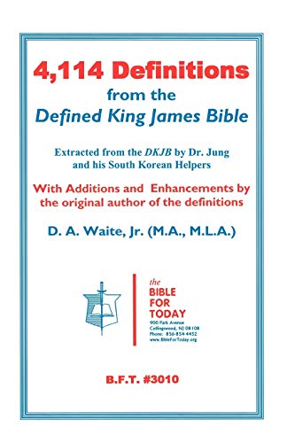 9781568480756: 4,114 Definitions from the Defined King James Bible