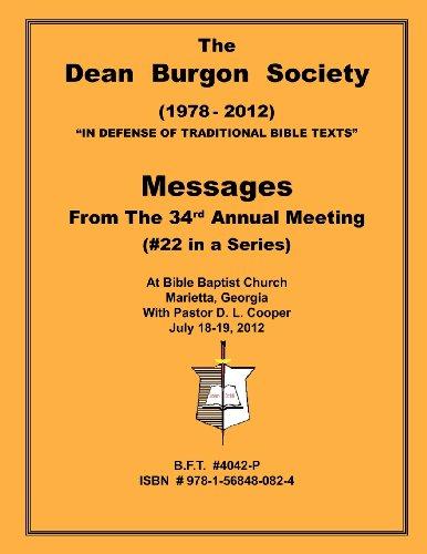 9781568480824: The Dean Burgon Society Message Book 2012