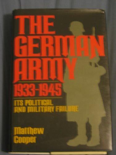 The German Army 1933-1945: Cooper, Matthew