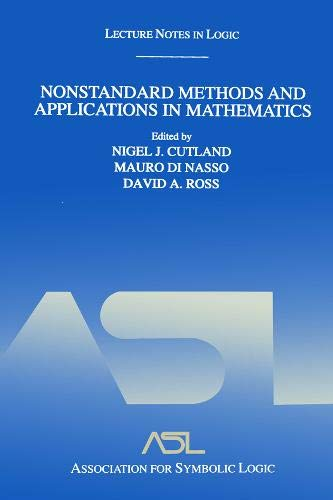 9781568812915: Nonstandard Methods and Applications in Mathematics: Lecture Notes in Logic 25