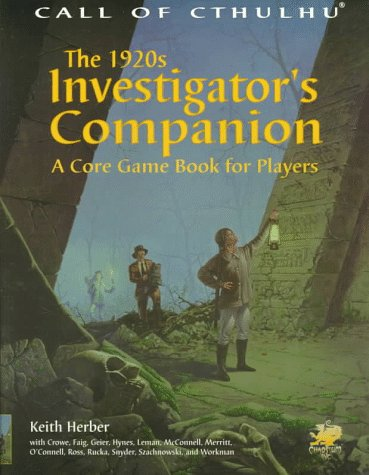 9781568821061: The 1920s Investigator's Companion: A Core Game Book for Players (Call of Cthulhu)