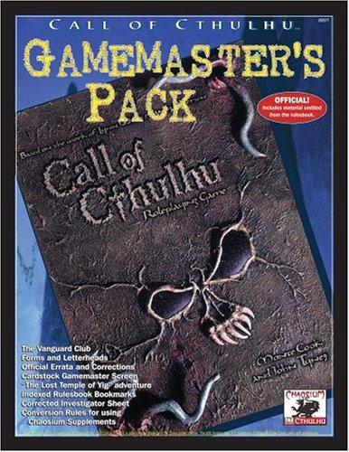 Gamemaster's Pack (Call of Cthulhu (WOTC) (d20)): Aaron Rosenberg; Dustin Wright