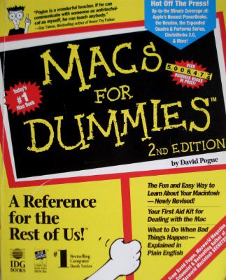 Macs for Dummies: 2nd Edition.