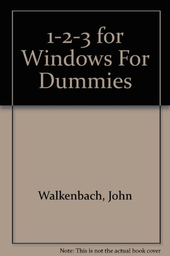 9781568840529: 1-2-3 for Windows For Dummies