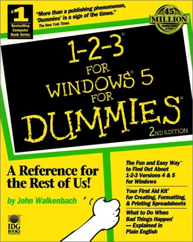 9781568842165: 1-2-3 For Windows 5 For Dummies