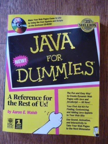 9781568846415: Java for Dummies