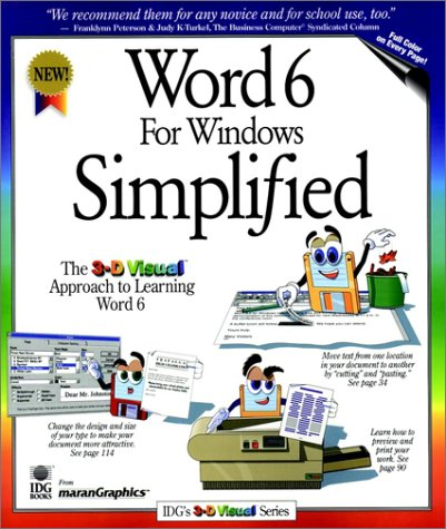 Word 6 For Windows Simplified (Idg's Intrographic Series) (1568846606) by Ruth Maran