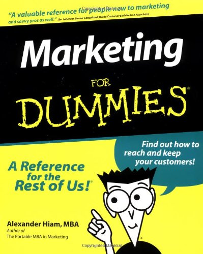 Marketing for Dummies. (For Dummies (Lifestyles Paperback))