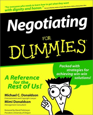 9781568848679: Negotiating For Dummies
