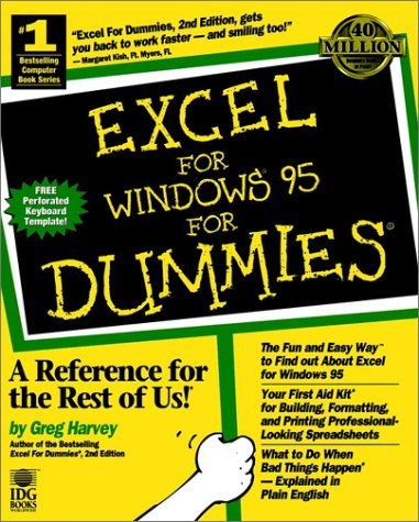 9781568849300: Excel for Windows 95 For Dummies - AbeBooks