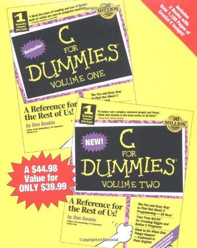 9781568849393: C For Dummies (2 Volume Set)