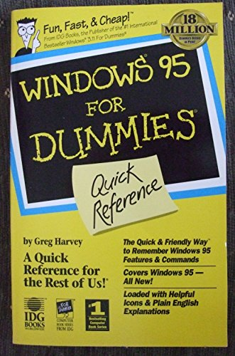 9781568849645: Windows 95 for Dummies Quick Reference