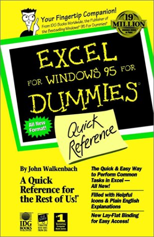 9781568849768: Excel For Windows 95 For Dummies: Quick Reference (For Dummies Series)