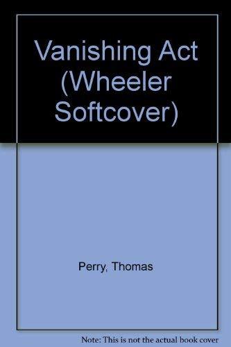 9781568952345: Vanishing Act (Wheeler Large Print Book Series)