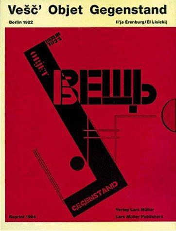 Vesc' Objet Gegenstand : Berlin 1922: Lissitzky, El / Ehrenburg, Ilya