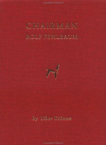 Chairman: Rolf Fehlbaum hc*OP*: Kalman, Tibor