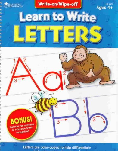 9781569115893: Learn to Write Letters - Write on Wipe off Ages 4