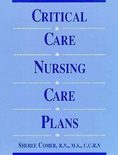 Critical Care Nursing Care Plan: Comer, RN, MS,