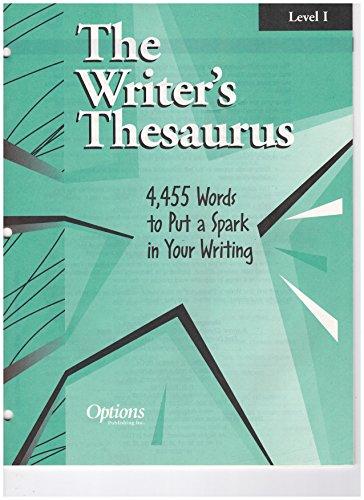 9781569360019: The Writer's Thesaurus, Level 1