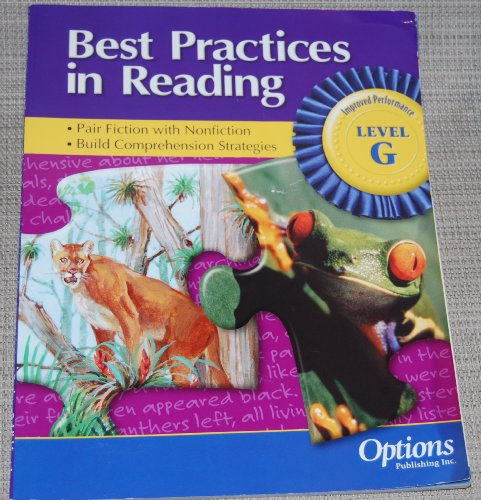 Best Practices in Reading-Level G: Options Publishing