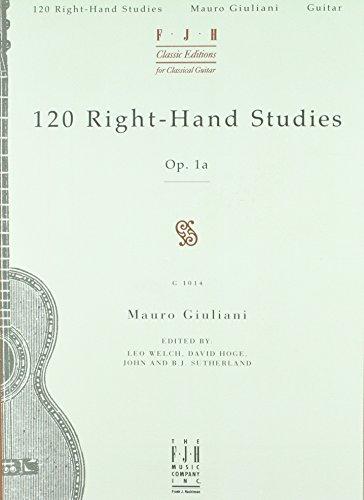 Mauro Giuliani: 120 Right-Hand Studies OP. 1A: Mauro Giuliani
