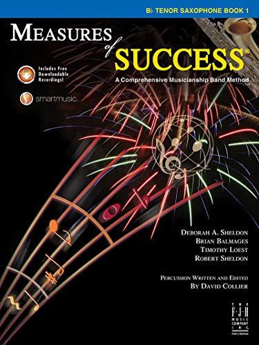 BB208TSX - Measures of Success - B-flat Tenor Saxophone Book 1 With CD: Deborah A. Sheldon