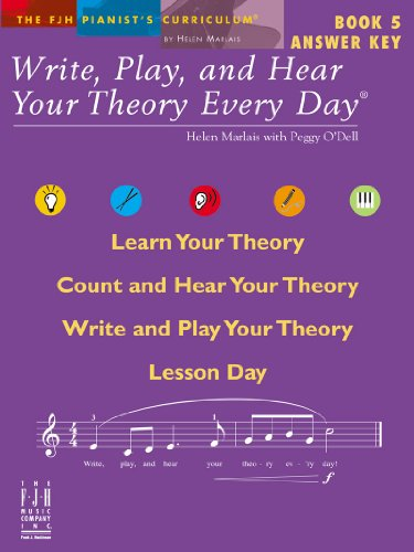 9781569398715: Write, Play, and Hear Your Theory Every Day Book 5, Answer Key