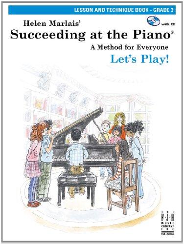 9781569399934: Succeeding at the Piano, Lesson & Technique, Grade 3 (with CD)