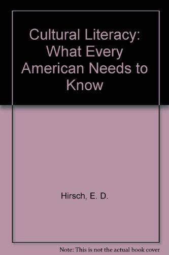 9781569562192: Cultural Literacy: What Every American Needs to Know