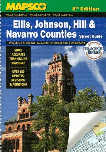 9781569664698: Mapsco Ellis, Hill, Johnson, & Navarro Counties: Street Guide (MAPSCO Street Guide)