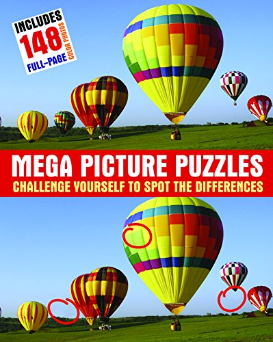 Mega Picture Puzzles: Challenge Yourself to Spot the Differences: Schwartz, Steven