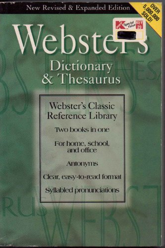 9781569873618: Webster's 2 in 1 Dictionary and Thesaurus