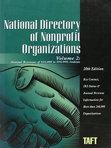 National Directory of Nonprofit Organizations (National Directory of Non-Profit Organizations Vol 2...