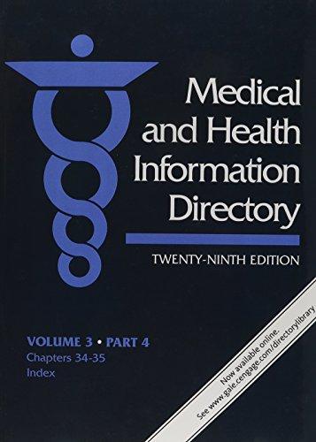 9781569959572: 3: Medical & Health Information Directory: Volume three, in 4 parts (Medical & Health Information Directory: Vol.3: Health Services)