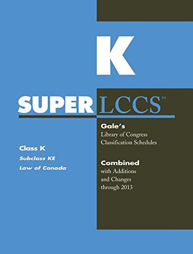 9781569959923: SUPERLCCS 13: SCHEDULE KE LAW OF CANADA