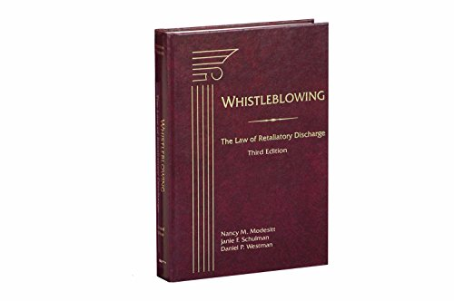 9781570184772: Whistleblowing: The Law Of Retaliatory Discharge