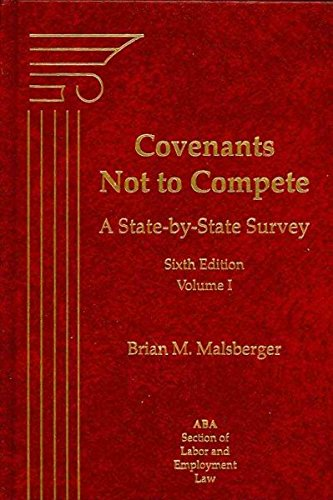 9781570187001: Covenants Not To Compete, 6th Edition
