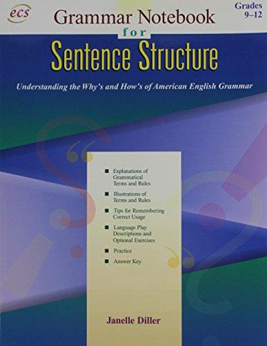 Grammar Notebook: Book 2, Sentence Structure Gr.: Janelle Diller