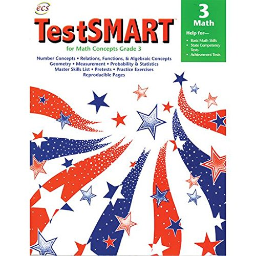 TestSMART for Math Concepts Grade 3: Help for Basic Math Skills, State Competency Tests, ...