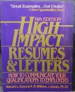 9781570230226: High Impact Resumes & Letters: How to Communicate Your Qualifications to Employers (HIGH IMPACT RESUMES AND LETTERS)