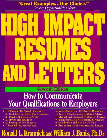 9781570230851: High Impact Resumes and Letters: How to Communicate Your Qualifications to Employers (High Impact Resumes and Letters, 7th ed)