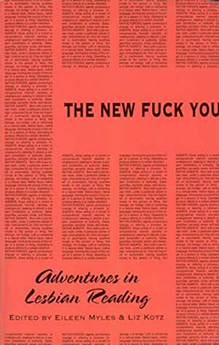The New Fuck You: Eileen Myles (editor),