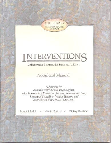 9781570354915: Interventions: Collaborative Planning for Students At Risk (Procedural Manual)
