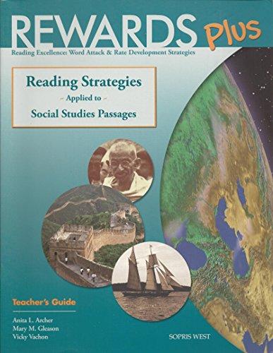 9781570358029: Rewards Plus Social Studies Teacher's Guide: Reading Strategies Applied to Social Studies Passages