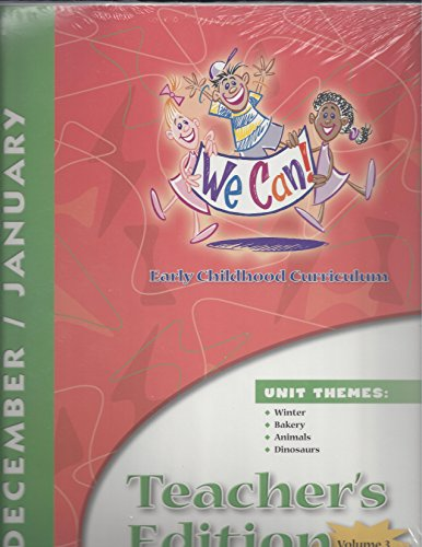 9781570358326: We Can! Early Childhood Curriculum (Winter, Bakery, Animals, Dinosaurs - December/January)