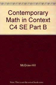 9781570398865: Contemporary Mathematics in Context Course 4 Student Edition Part B