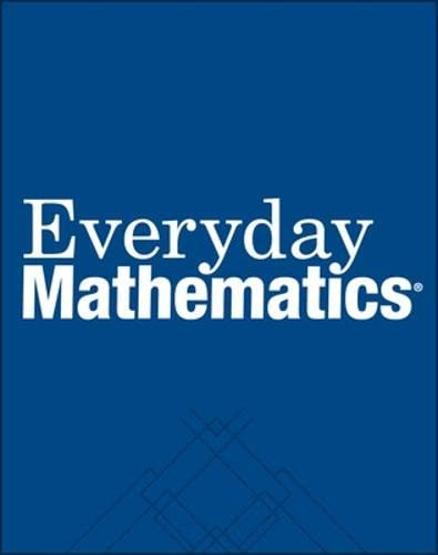 Everyday Mathematics 6th Grade Student Reference Book