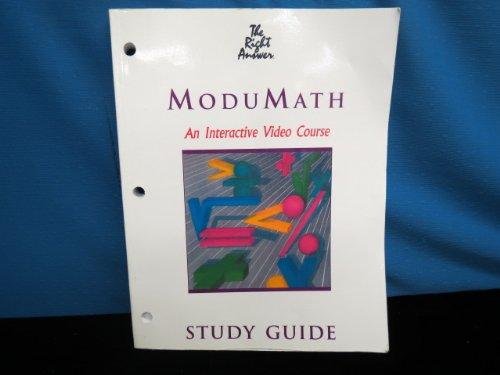MODUMATH: algebra study guide: THE RIGHT ANSWER